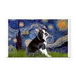 Starry Night Boston Ter Rectangle Car Magnet
