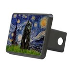 Starry Night Bouvier Rectangular Hitch Cover