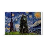 Starry Night Bouvier Rectangle Car Magnet