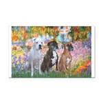 Garden / 3 Boxers Rectangle Car Magnet