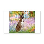 Garden & Boxer Rectangle Car Magnet