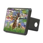 Lilies & Brindle Boxer Rectangular Hitch Cover