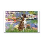 Lilies & Brindle Boxer Rectangle Car Magnet