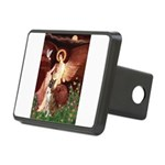 Seated Angel & Boxer Rectangular Hitch Cover