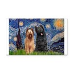 Starry - 2 Briards Rectangle Car Magnet