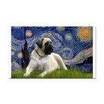 Starry / Bullmastiff Rectangle Car Magnet