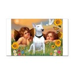 Angels & Bull Terrier #1 Rectangle Car Magnet