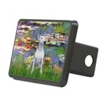 Lilies2-Bull Terrier (P) Rectangular Hitch Cover