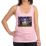 Starry/Bull Terrier (#4) Racerback Tank Top