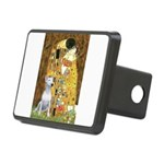 The Kiss & Bull Terrier Rectangular Hitch Cover