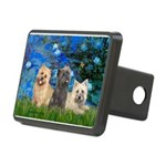 Lilies3/3 Cairn Terriers Rectangular Hitch Cover