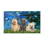 Lilies3/3 Cairn Terriers Rectangle Car Magnet