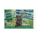 Bridge /Cairn Terrier (w) Rectangle Car Magnet