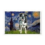 Starry / Catahoula Leopard Dog Rectangle Car Magne