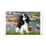 LILIES2-Cav-Tri52 .png Rectangle Car Magnet