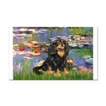Lilies (2) & Cavalier (BT) Rectangle Car Magnet