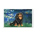 Lilies #5-Cavalier (BT) Rectangle Car Magnet