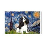 Starry Night Tri Cavalier Rectangle Car Magnet
