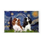 Starry Cavalier Pair Rectangle Car Magnet