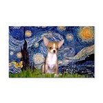 Starry Night Chihuahua Rectangle Car Magnet