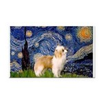 Starry/Puff Crested Rectangle Car Magnet