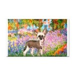 Garden / Chinese Crested Rectangle Car Magnet