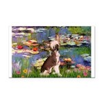 Lilies / C Crested(HL) Rectangle Car Magnet