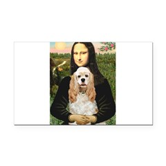 Mona Lisa / Cocker Spaniel Rectangle Car Magnet