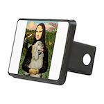 Mona Lisa /Cocker Spaniel Rectangular Hitch Cover