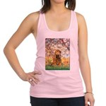 Spring /Cocker Spaniel (buff) Racerback Tank Top