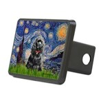 Starry Night / Black Cocke Rectangular Hitch Cover