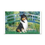 Bridge / Collie (tri) Rectangle Car Magnet