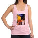 Cafe with Coton de Tulear Racerback Tank Top