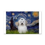 Starry Night Coton de Tulear Rectangle Car Magnet