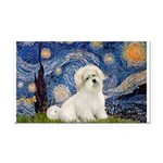 Starry / Coton de Tulear (#7) Rectangle Car Magnet