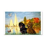 Sailboats / Dachshund Rectangle Car Magnet
