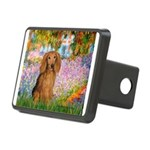 Garden -Dachshund (LH-Sable) Rectangular Hitch Cov
