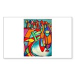 Irises & Dachshund 5.25 x 5.25 Flat Cards