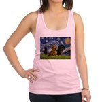 Starry Night Doxie Pair Racerback Tank Top