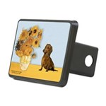 Sunflowres / Dachshund Rectangular Hitch Cover