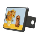 Sunflowers - Doxie (LH,S) Rectangular Hitch Cover