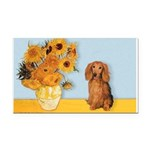 Sunflowers - Doxie (LH,S) Rectangle Car Magnet