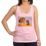 Sunflowers - Doxie (LH,S) Racerback Tank Top