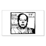 Cafe /Dachshund 5.25 x 5.25 Flat Cards
