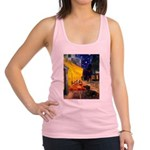 Cafe & Dachshund Racerback Tank Top