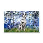 Lilies / Dalmatian #1 Rectangle Car Magnet