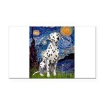 Starry / Dalmatian #1 Rectangle Car Magnet