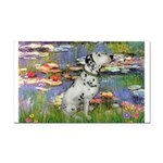Lilies / Dalmation Rectangle Car Magnet