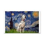 Starry /Dalmatian Rectangle Car Magnet