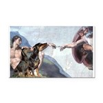 Creation / 2 Dobies Rectangle Car Magnet